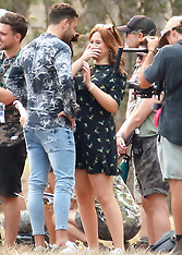 Emily Atack and Adam Thomas filming I'm A Celebrity Get Me Out Of Here UK 2019 - 16 Nov 2019