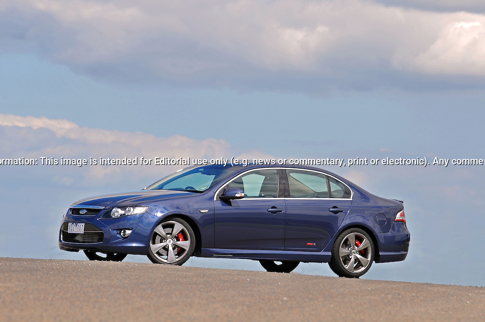 2009 Ford Performance Vehicles FPV F6E - Sensation Blue.Scoresby Industrial Estate, Melbourne, Victoria .3rd of October 2009.(C) Joel Strickland Photographics.Use information: This image is intended for Editorial use only (e.g. news or commentary, print or electronic). Any commercial or promotional use requires additional clearance.
