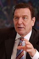 09 JAN 2002, BERLIN/GERMANY:<br /> Gerhard Schroeder, SPD, Bundeskanzler, waehrend einem Interiew, in seinem Buero, Bundeskanzleramt<br /> Gerhard Schroeder, SPD, Federal Chancellor of Germany, during an interview, in his office<br /> IMAGE: 20020109-02-015<br /> KEYWORDS: Gerhard Schröder