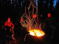 Around the campfire at Pine Lake, Haines Junction, Yukon