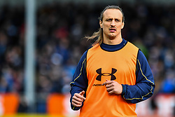 Anton Bresler of Worcester Warriors during the pre match warm up - Mandatory by-line: Craig Thomas/JMP - 10/02/2018 - RUGBY - Sandy Park Stadium - Exeter, England - Exeter Chiefs v Worcester Warriors - Aviva Premiership