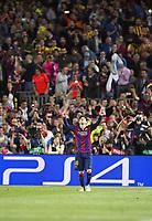 Fotball<br /> Tyskland<br /> 06.05.2015<br /> Foto: imago/Digitalsport<br /> NORWAY ONLY<br /> <br /> Torjubel: Lionel Messi (Barca)<br /> <br /> Fussball, Champions League, Halbfinale Hinspiel, FC Barcelona - FC Bayern München