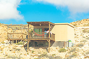 Exterior of an ecological, self sufficient, home in the Negev desert, Israel