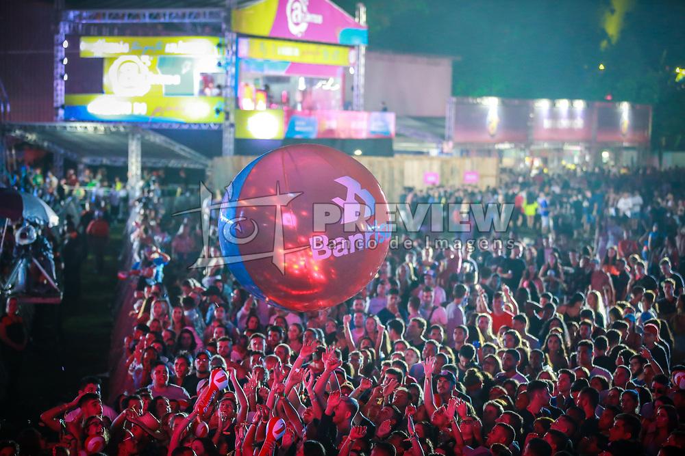 Banrisul durante a 25ª edição do Planeta Atlântida. O maior festival de música do Sul do Brasil ocorre nos dias 31 Janeiro e 01 de fevereiro, na SABA, praia de Atlântida, no Litoral Norte do Rio Grande do Sul. FOTO: <br /> Diego Vara/ Agência Preview