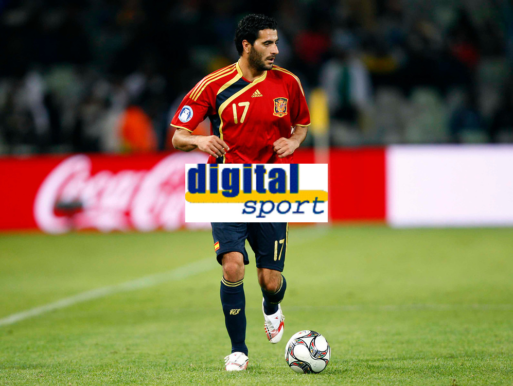 Fotball<br /> Confederations Cup<br /> Spania v Irak<br /> 17.06.2009<br /> Foto: Colorsport/Digitalsport<br /> NORWAY ONLY<br /> <br /> Daniel Guiza of Spain and Fenerbahce<br /> <br /> FIFA Confederations Cup South Africa 2009 <br /> Spain v Iraq Group B at Free State  Stadium Mangaung / Bloemfontein South Africa