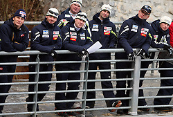 Coaches at Slovenian National Championship in Ski Jumping on February 12, 2008 in Kranj, Slovenia . (Photo by Vid Ponikvar / Sportal Images).
