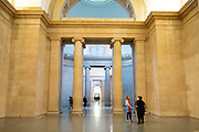 Architectural interior of Tate Britain art gallery in London, United Kingdom.