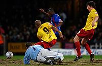 Photo: Daniel Hambury.<br />Crystal Palace v Watford. Coca Cola Championship. 31/03/2006.<br />Watford's Marlon King scores to make it 0-1.