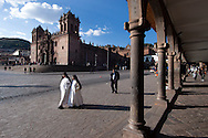 The Plaza de Armas of Cusco is perhaps the most beautiful square in the colonial style of the whole of South America, was built on the existing Inca square from which it departed the four main paths of the Inca Empire (the Suyos). Evangelization forced the local population was never able to completely eradicate the previous culture.