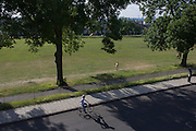 Aerial view of Ruskin Park, a public space in the south London borough of Lambeth, SE24.