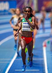 01-03-2018 GBR: World Athletics Indoor, Birmingham<br /> Bij de WK indoor atletiek heeft Sifan Hassan donderdagavond zilver gepakt op de 3000 meter. De Ethiopische Genzebe Dibaba, tweevoudig wereldkampioene indoor op deze afstand, pakte weer goud.