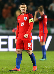 Wayne Rooney of England makes an appearance from the bench after being dropped for the game with Slovenia - Mandatory by-line: Robbie Stephenson/JMP - 11/10/2016 - FOOTBALL - RSC Stozice - Ljubljana, England - Slovenia v England - World Cup European Qualifier