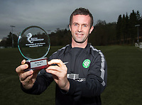 04/12/14<br /> LENNOXTOWN<br /> Celtic manager Ronny Deila is delighted to have received the SPFL Manager of the Month award for November