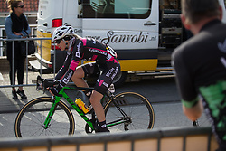 Anna Zita Maria Stricker (CRO) of BTC City Ljubljsana Cycling Team starts the final lap of the Omloop van Borsele - a 107.1 km road race, starting and finishing in s'-Heerenhoek on April 22, 2017, in Borsele, the Netherlands.