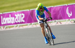 Roman Pongrac of Slovenia competes during Men's Individual C2 Time Trial during Day 8 of the Summer Paralympic Games London 2012 on September 5, 2012, in Brands Hatch circuit near London, Great Britain. (Photo by Vid Ponikvar / Sportida.com)