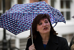 © Licensed to London News Pictures. 24/04/2017. London, UK. Nicky Morgan MP arrives at Conservative party headquarters in London. The Prime Minister posed for portraits with individual Conservative candidates at headquarters today ahead of general election which is due to take place on June 8th. Photo credit: Peter Macdiarmid/LNP