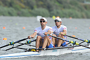 Hamilton, NEW ZEALAND. GBR LM2X, Bow Zac PURCHASE and Mark HUNTER, move away from the start in their heat of the lightweight Men's double sculls.   2010 World Rowing Championships on Lake Karapiro Saturday  30/10/2010. [Mandatory Credit Peter Spurrier:Intersport Images].