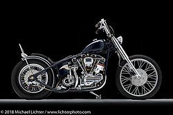 A custom motorcycle built from a 1969 Harley-Davidson Shovelhead by Joshua (Lefty) Mullican of Roseville, CA. Photographed by Michael Lichter in Sacramento, CA, USA on 1/10/19. ©2019 Michael Lichter.