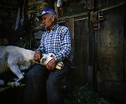 A man of Rio Onor village during the sheep shear.