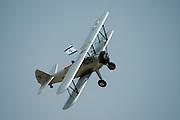 Israel, Hazirim, near Beer Sheva, Israeli Air Force museum. The national centre for Israel's aviation heritage WWII Biplane in flight