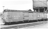 Box car #3057 at Salida with outfit car #04910.<br /> D&RGW  Salida, CO  Taken by Boyd, J. T. - 6/9/1935