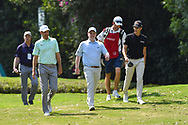 Brendon Todd (USA), Robert McIntyre (SCO), and Matthias Schwab (AUT) head down 2 during Rd4 of the World Golf Championships, Mexico, Club De Golf Chapultepec, Mexico City, Mexico. 2/23/2020.<br /> Picture: Golffile   Ken Murray<br /> <br /> <br /> All photo usage must carry mandatory copyright credit (© Golffile   Ken Murray)