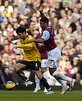 Photo: Olly Greenwood.<br />West Ham United v Arsenal. The Barclays Premiership. 05/11/2006. Arsenal's Cesc Fabregas and West Ham's Hayden Mullins