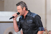 Photos of the musician Blake Shelton performing live on stage for the Citi Concert Series on NBC's TODAY Show at Rockefeller Plaza in New York, NY on August 5, 2016. © Matthew Eisman/ Getty Images. All Rights Reserved