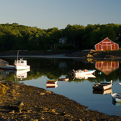 A small harbor in Blue Hill Falls, Maine.