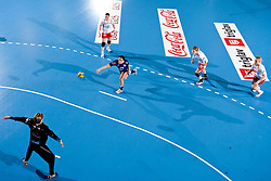 Andrea Lekic of Krim during 3rd Main Round of Women Champions League handball match between RK Krim Mercator, Ljubljana and Larvik HK, Norway on February 19, 2010 in Arena Kodeljevo, Ljubljana, Slovenia. Larvik defeated Krim 34-30. (Photo by Vid Ponikvar / Sportida)