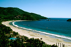 Mexico: Ixtapa..Beach..Photo Copyright Lee Foster, www.fostertravel.com. .Photo #: mxixta102, 510/549-2202, lee@fostertravel.com