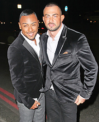 © Licensed to London News Pictures. 29/03/2014, UK. Marcus Collins & Robin Windsor, Attitude Magazine - 20th Birthday Party, Grosvenor House Hotel, London UK, 29 March 2014. Photo credit : Brett D. Cove/Piqtured/LNP