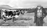 Farmer Jerome O'Leary from Blackwater, Sneem, County Kerry, Ireland  pictured with Big Bertha the world's oldest cow who in 1994..Picture by Don MacMonagle