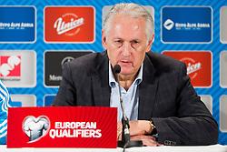 head coach Mykhailo Fomenko (UKR) at press conference after the UEFA EURO 2016 Play-off for Final Tournament, Second leg between Slovenia and Ukraine, on November 17, 2015 in Stadium Ljudski vrt, Maribor, Slovenia. Photo by Urban Urbanc / Sportida