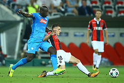 August 22, 2017 - Nice, France - Kalidou Koulibaly of Napoli and Remi Walter of Nice  during the UEFA Champions League Qualifying Play-Offs round, second leg match, between OGC Nice and SSC Napoli at Allianz Riviera Stadium on August 22, 2017 in Nice, France. (Credit Image: © Matteo Ciambelli/NurPhoto via ZUMA Press)
