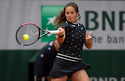 May 28, 2019 - Paris, FRANCE - Daria Kasatkina of Russia in action during her first-round match at the 2019 Roland Garros Grand Slam tennis tournament (Credit Image: © AFP7 via ZUMA Wire)