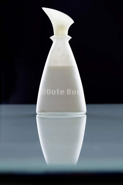 elegant bottle with a lotion cream