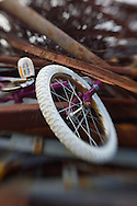 A child's bicycle wheel