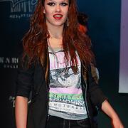 NLD/Amsterdam/20130404- Presentatie kledinglijn Rock & Roll Junkie van Lola Brood, modeshow zus Holly Mae