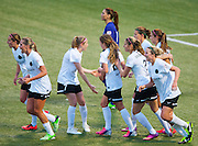 Game action between the Portland Thorns and the Seattle Reign