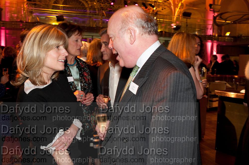 RACHEL JOHNSON; RACHEL BILLINGTON; JULIAN FELLOWES, Orion Authors' Party,  Royal Opera House, Covent Garden, London. 15 February 2011. <br /> -DO NOT ARCHIVE-© Copyright Photograph by Dafydd Jones. 248 Clapham Rd. London SW9 0PZ. Tel 0207 820 0771. www.dafjones.com.