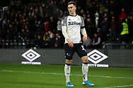Derby County forward Tom Lawrence (10) during the EFL Sky Bet Championship match between Derby County and Sheffield Wednesday at the Pride Park, Derby, England on 11 December 2019.