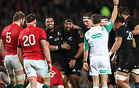 Rugby Union - 2017 British & Irish Lions Tour of New Zealand - Third Test: New Zealand vs. British & Irish Lions<br /> <br /> Jerome Kaino and Charlie Faumuina of The All Blacks celebrate before Roman Poite referee gives a penalty then changes his mind  at Eden Park.<br /> <br /> COLORSPORT/LYNNE CAMERON