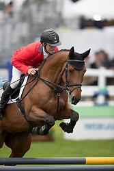 Vogg Felix, SUI, Mathurin vd Vogelzang<br /> World Championship Young Eventing Horses<br /> Mondial du Lion - Le Lion d'Angers 2016<br /> © Hippo Foto - Dirk Caremans<br /> 23/10/2016