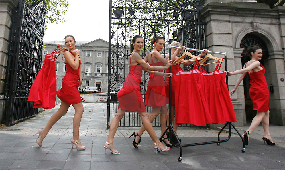 1st Option Models Roz, Kami, Kamila, Leah and Sarah are pictured prepairing for Buy My Dress in aid of down Syndrome Centre,  Ireland Largest one-day charity dress sale, ehich takes place in the Royal College of Physicians on Thursday 11th June from 10am tp 9pm. Pic Andres Poveda.