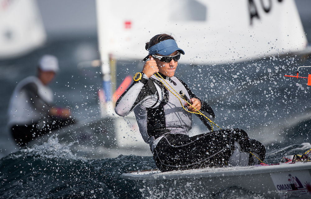 The 2015 Laser Women's Radial World Championship. Mussanah. Oman. November 18-26 November. Day 3 of racing Image - <br /> licensed to Lloyd Images