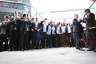 Empfang der Nationalmannschaft in Zuerich Kloten nach dem zweiten Platz an der WM in Schweden 2013 (Thomas Oswald)