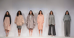 © Licensed to London News Pictures. 01/06/2015. London, UK. Collection by Leisa Hughes. Fashion show of Nottingham Trent University at Graduate Fashion Week 2015. Graduate Fashion Week takes place from 30 May to 2 June 2015 at the Old Truman Brewery, Brick Lane. Photo credit : Bettina Strenske/LNP
