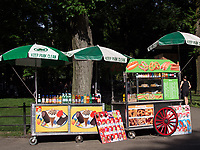 Food vendor near the Bandshell in Central Park