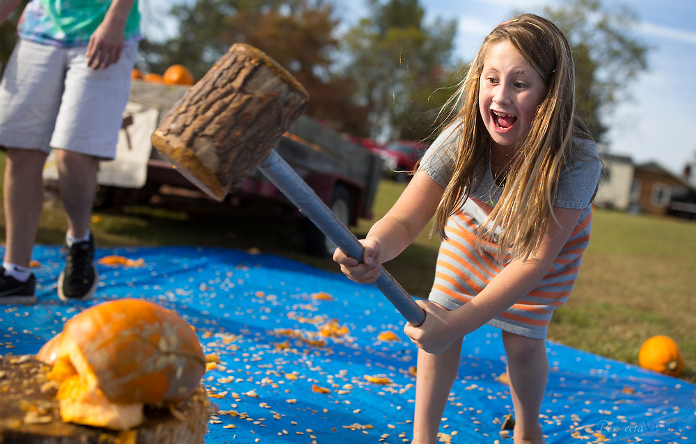 Kalei Burgess, 11, of Greensboro.<br /> <br /> Quaker Lake Camp's 2017 Pumpkin Festival.<br /> <br /> Photographed, Saturday, October 21, 2017, in Greensboro, N.C. JERRY WOLFORD  / Perfecta Visuals